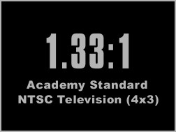 1.33:1 academy standard aspect ratio
